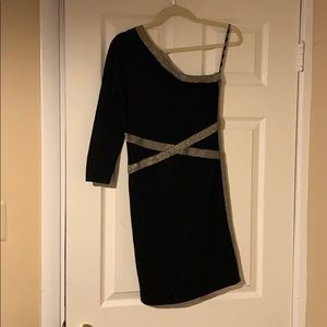 XOXO black dress with gold